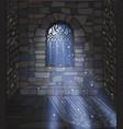 magic moonlight wallpaper ornate gothic window vector image vector image