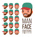 man emotions face male variety of emotions vector image