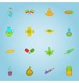 Marijuana icons set cartoon style vector image vector image