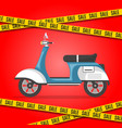 motorbike sale poster with city moped vector image vector image