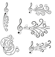 Music Treble clef and notes for your design vector image vector image