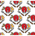 norway fish and potato cutlery seamless pattern vector image vector image