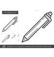 Pen ballpoint line icon vector image vector image