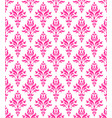 pink floral wallpaper vector image vector image