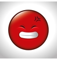 red emoticon smile closed eyes vector image vector image