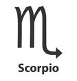 Scorpius scorpion zodiac sign icon vector image vector image