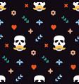 seamless pattern for dia de los muertos - mexican vector image