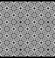 seamless pattern with black and white circles vector image