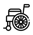 self-propelled wheelchair equipment icon vector image