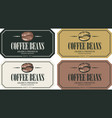set labels for freshly roasted coffee beans vector image