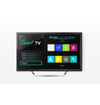 smart tv menu on lcd screen vector image vector image