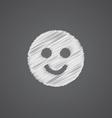smile sketch logo doodle icon vector image vector image