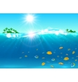 summer vacation tropical ocean island vector image vector image