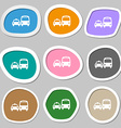 taxi icon symbols Multicolored paper stickers vector image