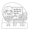 teacher coloring page vector image vector image