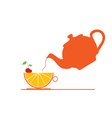 teapot with fruit vector image