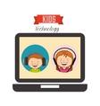 technological kids vector image