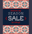 ugly sweater christmas season winter autumn sale vector image