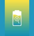 ui design battery detection vector image vector image