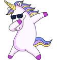 unicorn on white background vector image