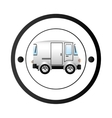 Van shipping vehicle vector image vector image