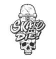 vintage skateboarding emblem template vector image vector image