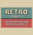 vintage typeface retro font vector image vector image