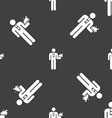 Waiter icon sign Seamless pattern on a gray vector image vector image