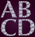 Alphabet of diamonds ABCD