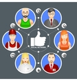 People in a social network vector image