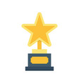 gold star trophy icon vector image