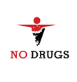 Abstract icon man released of drugs vector image