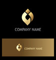 Abstract ovale shape gold logo