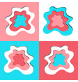 abstract paper cut shapes set vector image