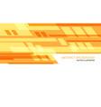 abstract yellow orange geometric speed technology vector image
