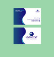best blue awesome business card vector image vector image