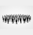 big people crowd on white background vector image vector image