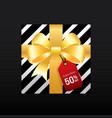 black friday sale promotion concept banner vector image