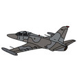 camouflaged light military jet vector image