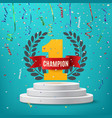 Champion winner number one background vector image vector image