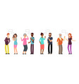 chatting persons people group in conversation vector image vector image