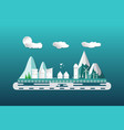city flat scene design with building apartment vector image vector image