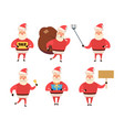 collection of christmas santa claus cartoon and vector image vector image