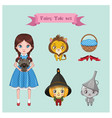 collection of fairy tale characters vector image vector image