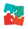 colored puzzle pieces vector image