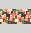 crowd young and elderly men and women in trendy vector image vector image