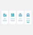 delivery warehouse service storage boxes ux vector image vector image