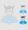 devil priest mesh carcass model vector image vector image