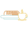 dish with bread icon vector image vector image