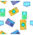 Electronic gadget pattern cartoon style vector image vector image